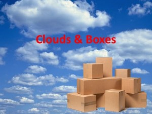clouds and boxes