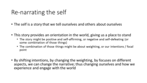 re-narrating the self